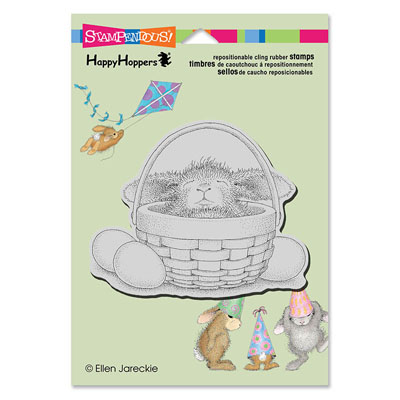 CLING BUNNY BASKET - House-Mouse Rubber Stamp