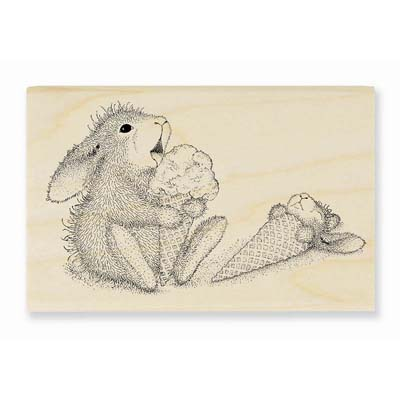 ICE CREAM LICK - House-Mouse Rubber Stamp