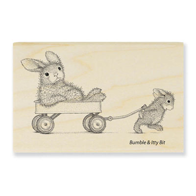 Wagon Ride - House-Mouse Rubber Stamp