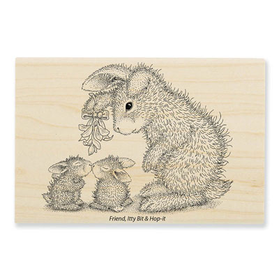 MISTLETOE BUNNIES - House-Mouse Rubber Stamp