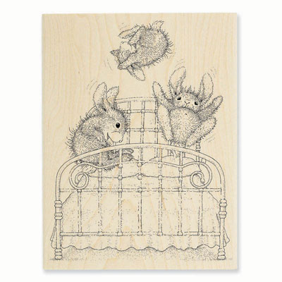 BOUNCING BUNNIES - House-Mouse Rubber Stamp