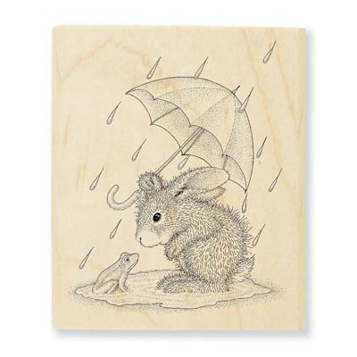 PUDDLE FUN - House-Mouse Rubber Stamp