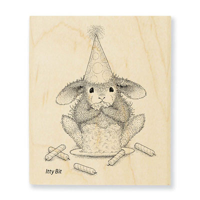 Cake Nibbler - House-Mouse Rubber Stamp