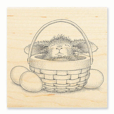 BUNNY BASKET - House-Mouse Rubber Stamp
