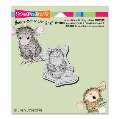 CLING SITTING PRETTY - House-Mouse Rubber Stamp