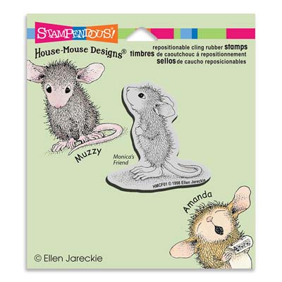 CLING HOPEFUL MOUSE - House-Mouse Rubber Stamp