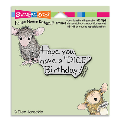 CLING DICE BIRTHDAY - House-Mouse Rubber Stamp