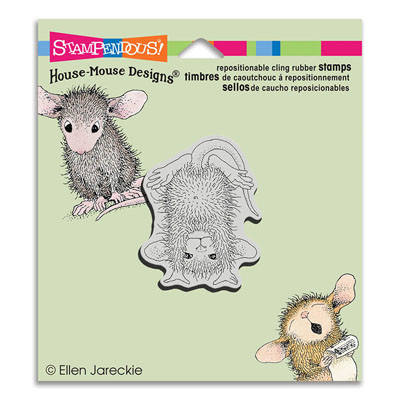 CLING HANDSTAND - House-Mouse Rubber Stamp