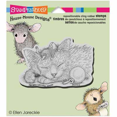 CLING Friendly Dreams - House-Mouse Rubber Stamp