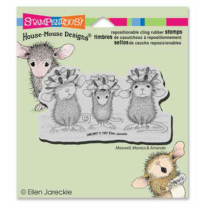 CLING BOW TIED - House-Mouse Rubber Stamp