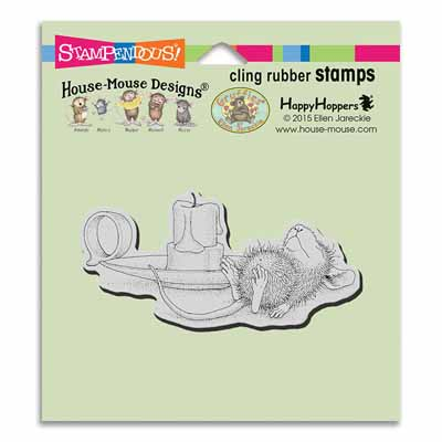 CLING Nap By Candle - House-Mouse Rubber Stamp