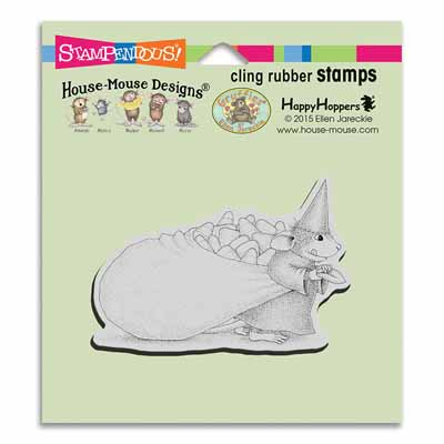 CLING Candy Witch - House-Mouse Rubber Stamp