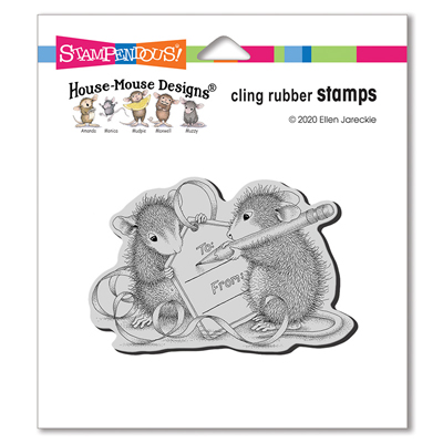 Cling Mouse Tag Rubber Stamp - House-Mouse Rubber Stamp