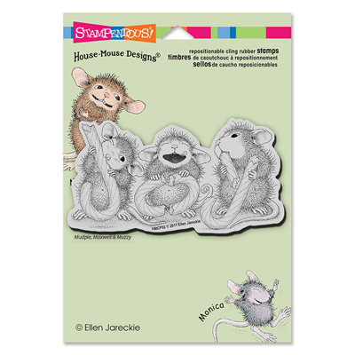 CLING CANDY JOY - House-Mouse Rubber Stamp