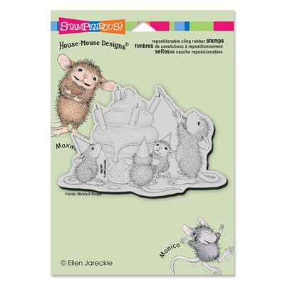 CLING BIRTHDAY CONE - House-Mouse Rubber Stamp