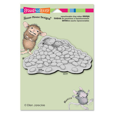 CLING JELLY BEAN NAP - House-Mouse Rubber Stamp