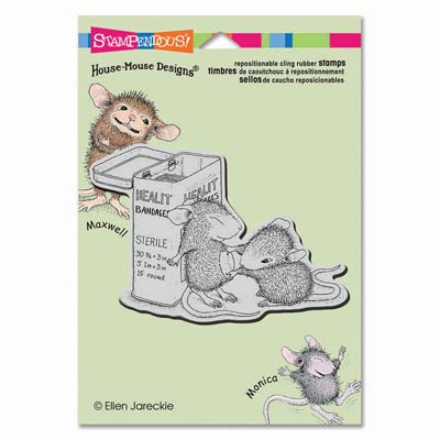 CLING FIRST AID - House-Mouse Rubber Stamp