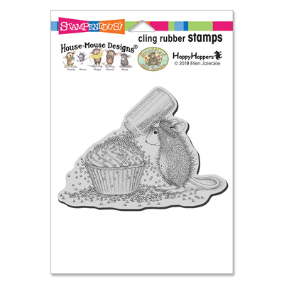 Cupcake Sprinkles Rubber Stamp - House-Mouse Rubber Stamp