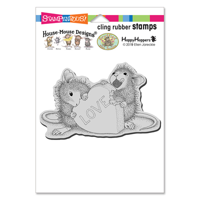 Cling Love Treat Rubber Stamp - House-Mouse Rubber Stamp