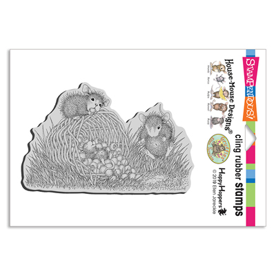Berry Basket Cling Rubber Stam - House-Mouse Rubber Stamp