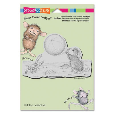 CLING BEACH  TOSS - House-Mouse Rubber Stamp