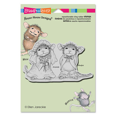 CLING Mr And Meeces - House-Mouse Rubber Stamp