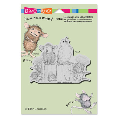 CLING Sing A Song - House-Mouse Rubber Stamp