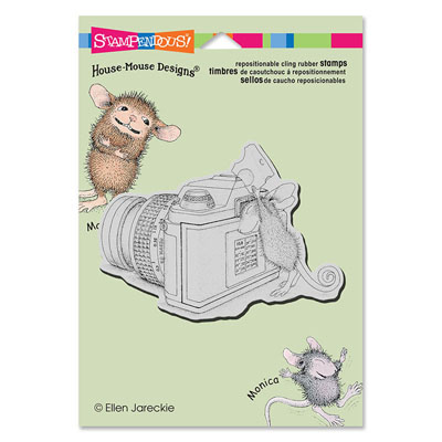 CLING Say Cheese - House-Mouse Rubber Stamp