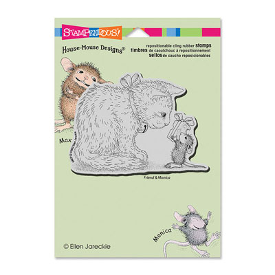 CLING GIFT FOR KITTY - House-Mouse Rubber Stamp