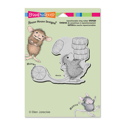 CLING CARRYING MINTS - House-Mouse Rubber Stamp