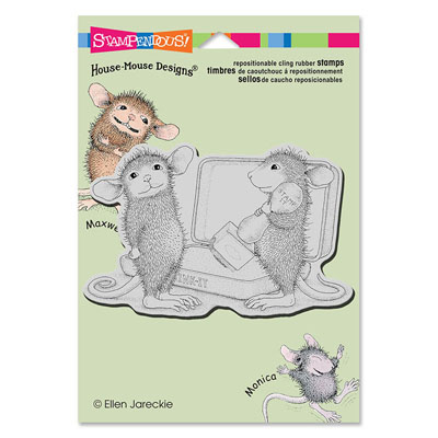 CLING KISS STAMP - House-Mouse Rubber Stamp