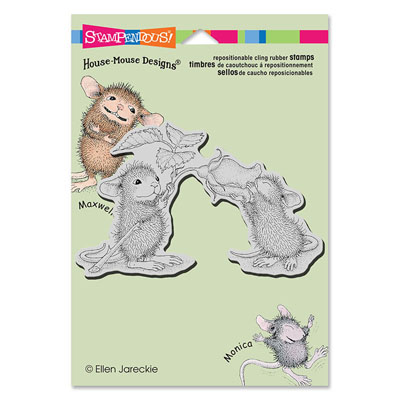 CLING SMELL THE ROSES - House-Mouse Rubber Stamp