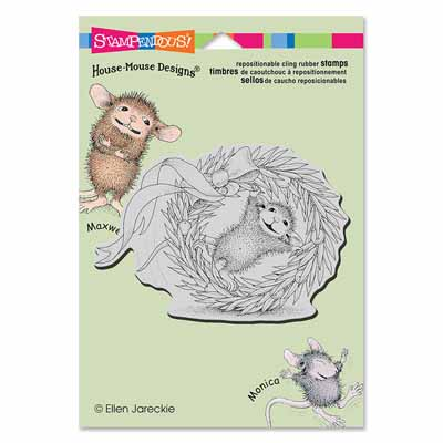 CLING WREATH ROLLING - House-Mouse Rubber Stamp