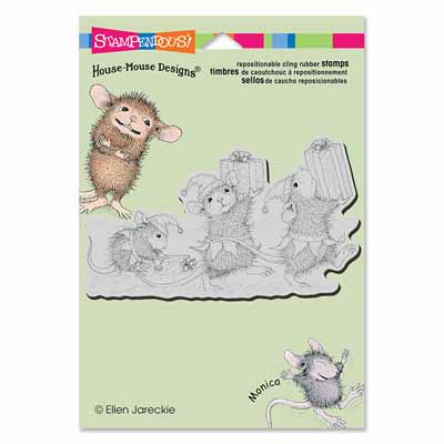 CLING ELF GIFTS - House-Mouse Rubber Stamp