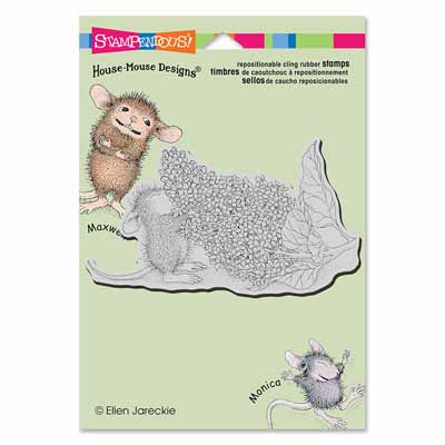 CLING LILAC AROMA - House-Mouse Rubber Stamp