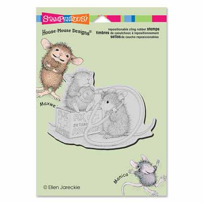 CLING NURSE MOUSE - House-Mouse Rubber Stamp