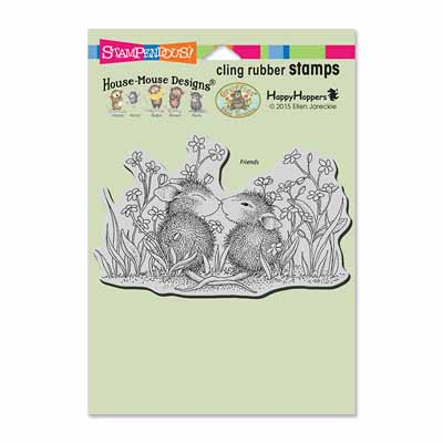 CLING GARDEN KISS - House-Mouse Rubber Stamp