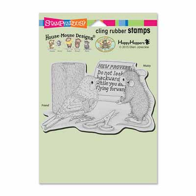 CLING NEW PROVERB - House-Mouse Rubber Stamp