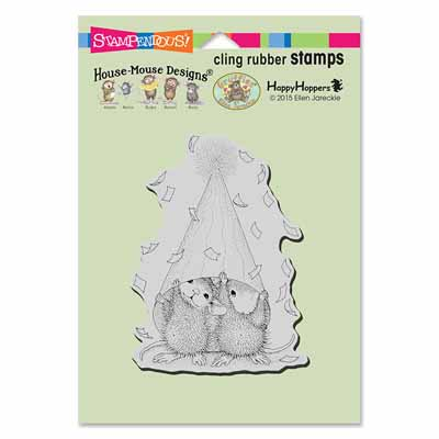 CLING PARTY PEEKING - House-Mouse Rubber Stamp