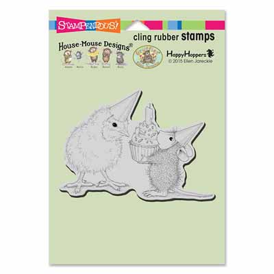 CLING BIRTHDAY CHICK - House-Mouse Rubber Stamp