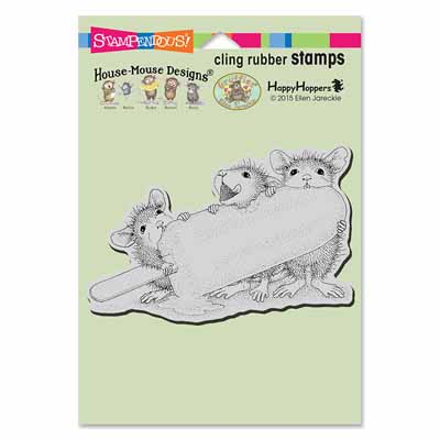 CLING ICE POP TREAT - House-Mouse Rubber Stamp