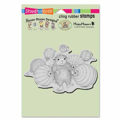 CLING Ornament Collecting - House-Mouse Rubber Stamp