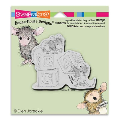 CLING BABY BLOCKS - House-Mouse Rubber Stamp