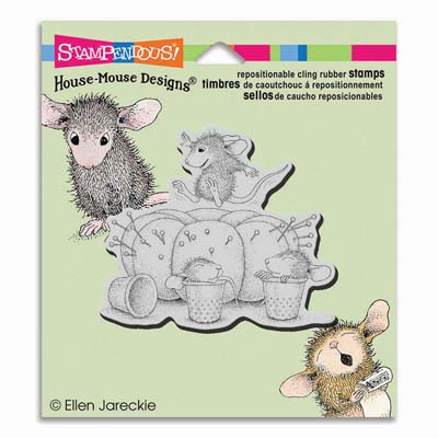 CLING PIN CUSHION - House-Mouse Rubber Stamp