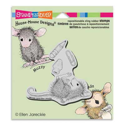 CLING SCHOOL SUPPLIES - House-Mouse Rubber Stamp