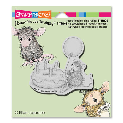 CLING Birthday Donut - House-Mouse Rubber Stamp