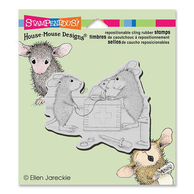 CLING Vet Visit - House-Mouse Rubber Stamp