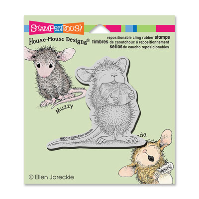 CLING MINT NIBBLER - House-Mouse Rubber Stamp