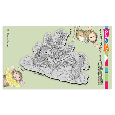 CLING TRIM THE TREE - House-Mouse Rubber Stamp