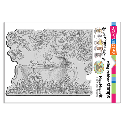 Jasmine Tea Rubber Stamp - House-Mouse Rubber Stamp